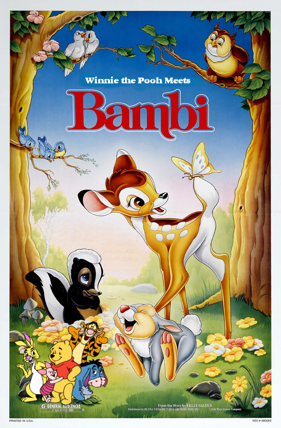 Winnie the Pooh Meets Bambi Poster