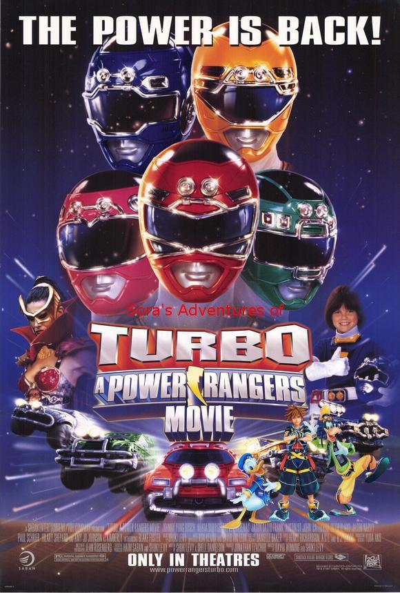 Sora's Adventures of Turbo A Power Rangers Movie poster