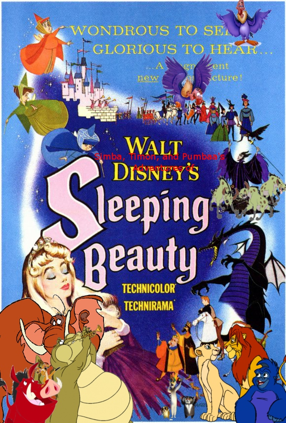 Simba, Timon, and Pumbaa's Adventures of Sleeping Beauty poster