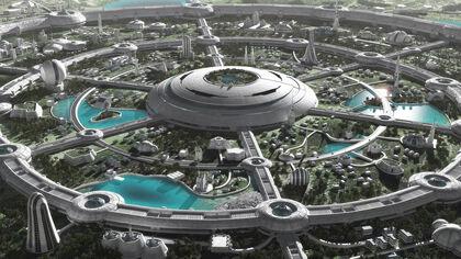 Futuristic paradise by jfliesenborghs-d90mood