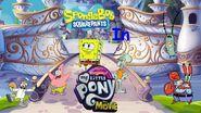 SpongeBob SquarePants in Pooh's Adventures of My Little Pony the Movie poster