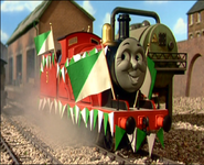 James in Sodor Football team colors