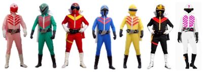 Six masked rangers