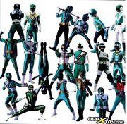 All Green Rangers