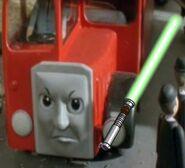 Bertie with Lightsaber