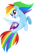 Rainbow Dash as a Seapony