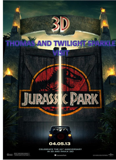 Thomas and Twilight Sparkle visit Jurassic Park