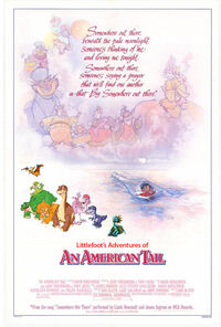 Littlefoot's Adventures of An American Tail Poster