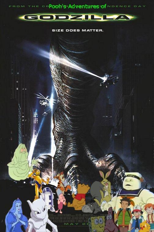Pooh's Adventures of Godzilla (1998) poster