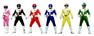Six super rangers