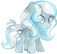 Snowdrop crystal pony by posey 11-d75bms2