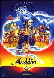 Simba Timon and Pumbaa's adventures in Aladdin poster