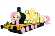 MLP Fluttershy as a Thomas character