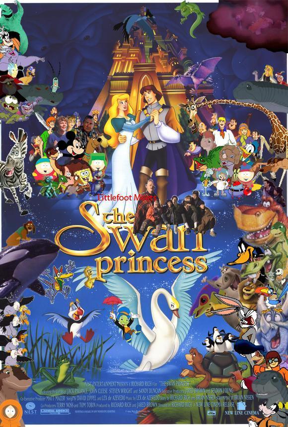 Littlefoot Meets The Swan Princess Poster