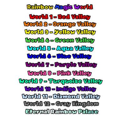Rainbow Magic World list worlds