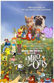 Winnie the Pooh in The Adventures of Milo & Otis Poster