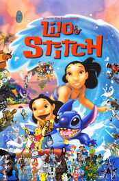 Winnie the Pooh meets Lilo and Stitch poster (version 2)