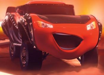 Lightning McQueen after he zaps himself with Jimmy's De-Dorkinator