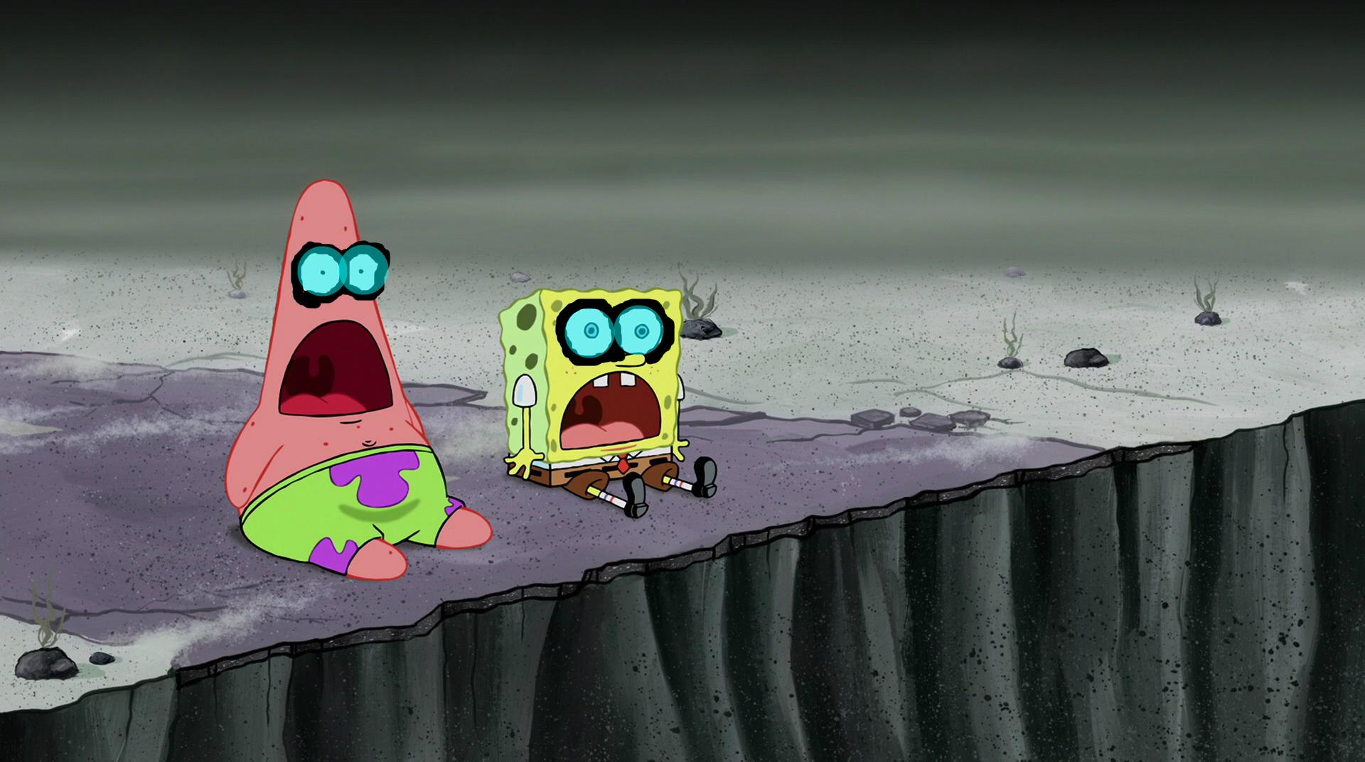 Screenslaved Spongebob Squarepants and Patrick Star
