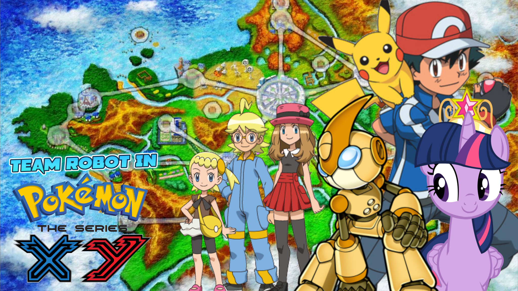 image team robot in pokemon xy the series poster png pooh s
