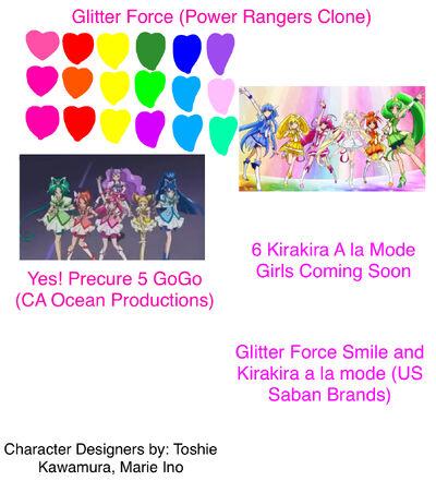 Glitter Force PR Clone