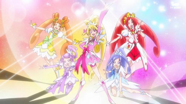 File:The Glitter force mega team.png