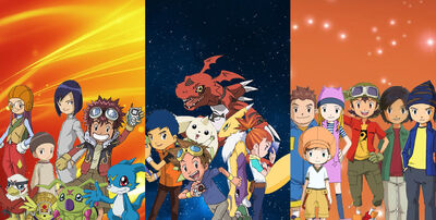 DigiDestined & their Digimon (Season 2, 3 & 4)