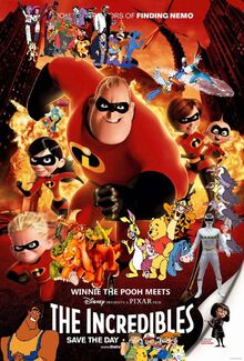 Winnie the Pooh Meets The Incredibles poster