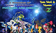 Legendary Pokemon and Digimon Bond Poster