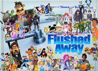 Weekenders Gets Flushed Away (Remake Poster)