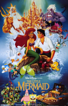 Turtle's Adventures of The Little Mermaid Poster
