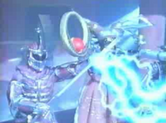 Lord Zedd and Rita using their staves