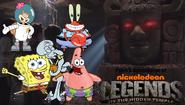 Pooh's Adventures of Legends of the Hidden Temple SpongeBob character poster