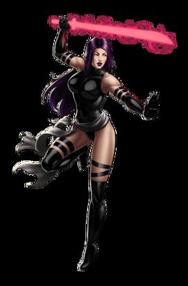 X-Force Psylocke Portrait Art