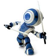63790-glossy-blue-robot-ninja-holding-katanas