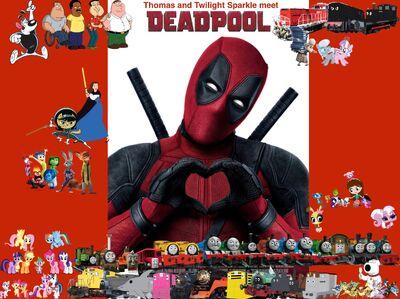Thomas and Twilight Sparkle meet Deadpool poster