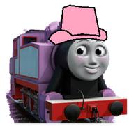Rosie as a cowgirl