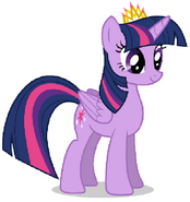 Princess Twilight Sparkle with her Crown