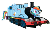 MLP Rainbow Dash as a Thomas character