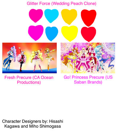 Glitter Force Wedding Peach Clone