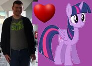 Connor Lacey and Twilight Sparkle as love interests