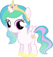 Princess Celestia as a young filly