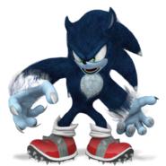 Sonic the werehog render by nibroc rock-d9f0zm1