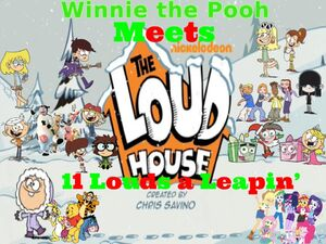 Winnie the Pooh Meets the Loud House Holiday Poster