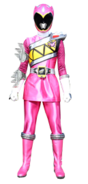 Dino Charge Pink Ranger in Dino Steel