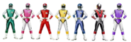 Seven sonic rangers