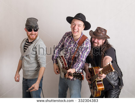 Stock-photo-trio-of-musicians-with-a-guitar-banjo-and-harmonica-332304383