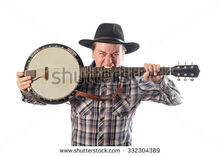 Stock-photo-portrait-of-a-cheerful-man-with-a-banjo-332304389