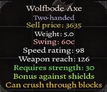 Wolfbode Axe 3.9