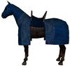 Caparisoned horse blue